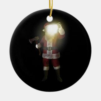 Ornement Rond En Céramique Tueur de Père Noël
