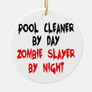 Ornement Rond En Céramique Tueur de zombi de décapant de piscine