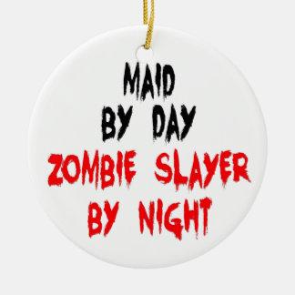 Ornement Rond En Céramique Tueur de zombi de domestique