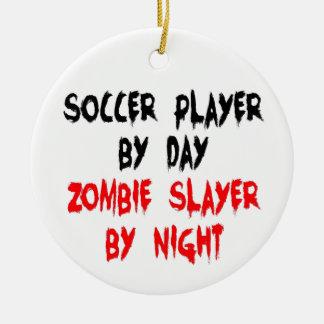 Ornement Rond En Céramique Tueur de zombi de footballeur