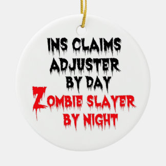 Ornement Rond En Céramique Tueur de zombi de régleur de déclarations de