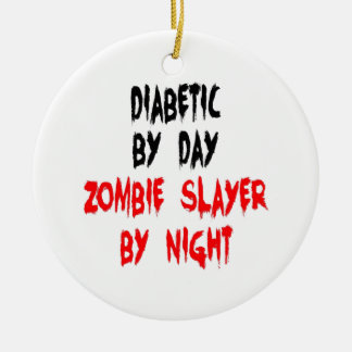 Ornement Rond En Céramique Tueur diabétique de zombi
