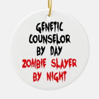 Ornement Rond En Céramique Tueur génétique de zombi de conseiller