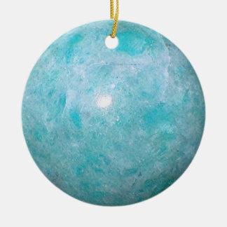 Ornement Rond En Céramique Turquoise