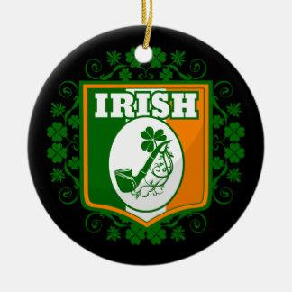 Ornement Rond En Céramique Tuyau de Jour de la Saint Patrick