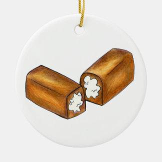 Ornement Rond En Céramique Twinkie Crème-A rempli cadeau de fin gourmet de