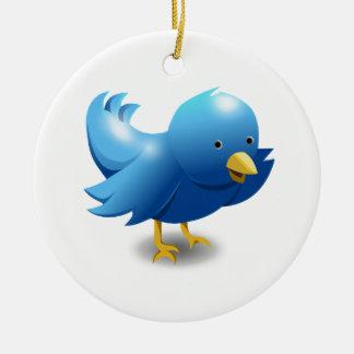 Ornement Rond En Céramique Twitter bird logo