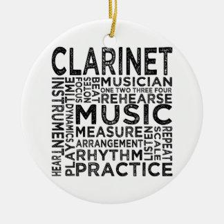 Ornement Rond En Céramique Typographie de clarinette