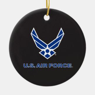 Ornement Rond En Céramique U.S. Logo de l'Armée de l'Air - bleu