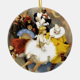 Ornement Rond En Céramique Un cirque des danseurs