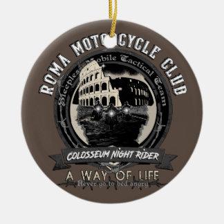 Ornement Rond En Céramique Un club étrange de moto