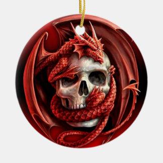 Ornement Rond En Céramique Un cr�ne pour Halloween -
