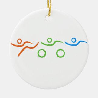 Ornement Rond En Céramique Un grand cadeau de triathlon pour votre ami ou