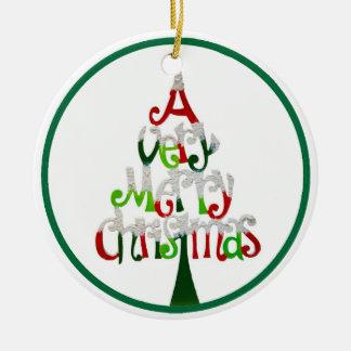 Ornement Rond En Céramique Un Noël très Joyeux