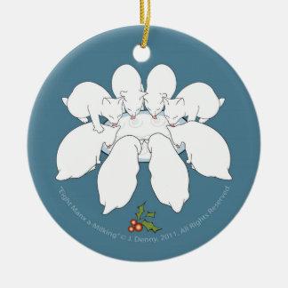 Ornement Rond En Céramique Un-Traite huit mannoise… Arbre de Noël