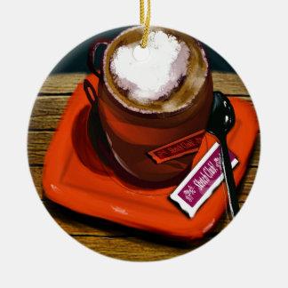 Ornement Rond En Céramique Une tasse de café
