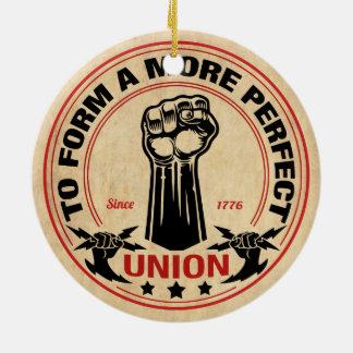 Ornement Rond En Céramique Une union plus parfaite 1016