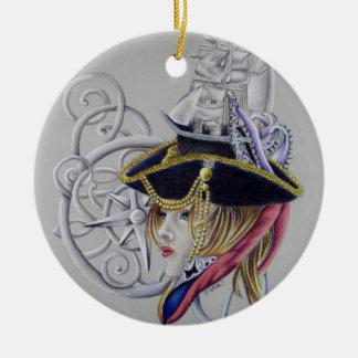 Ornement Rond En Céramique Une vie de pirates