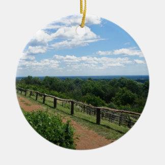 Ornement Rond En Céramique Une vue de Monticello