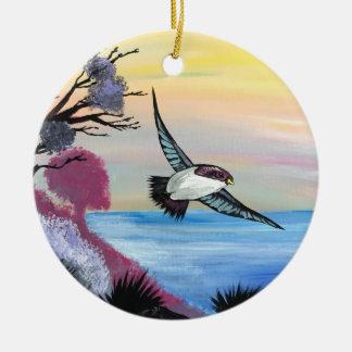 Ornement Rond En Céramique Une vue d'oiseaux