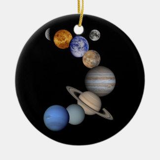 Ornement Rond En Céramique univers de planètes de système solaire
