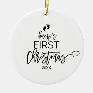 Ornement Rond En Céramique Vacances de Noël de la bosse d'arbre de Noël