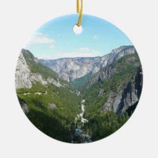 Ornement Rond En Céramique Vallée de Yosemite en parc national de Yosemite