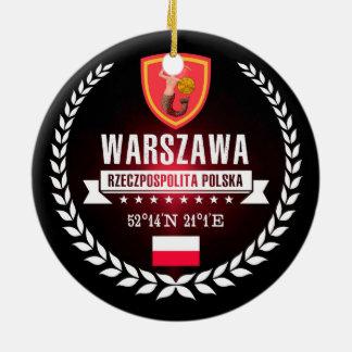Ornement Rond En Céramique Varsovie