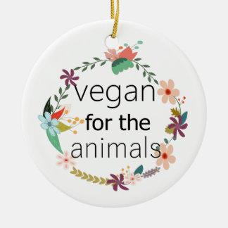 Ornement Rond En Céramique Végétalien pour la conception florale d'animaux