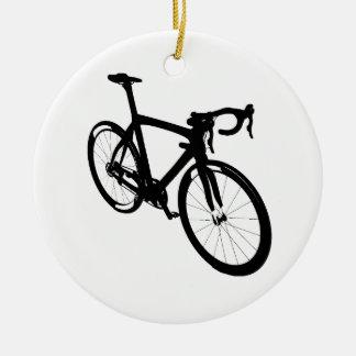 Ornement Rond En Céramique Vélo