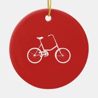 Ornement Rond En Céramique Vélo nommé fait sur commande de garçons