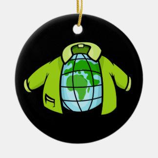 Ornement Rond En Céramique Veste de globe