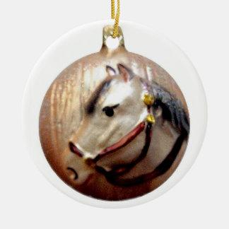 Ornement Rond En Céramique Vieille tête de cheval allemande