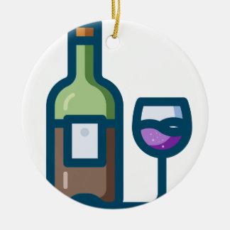 Ornement Rond En Céramique Vin