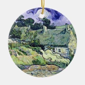 Ornement Rond En Céramique Vincent van Gogh | a couvert des cottages de