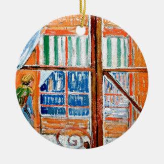 Ornement Rond En Céramique Vincent van Gogh - boucherie d'une fenêtre