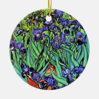 Ornement Rond En Céramique Vincent van Gogh - iris - beaux-arts d'amant de