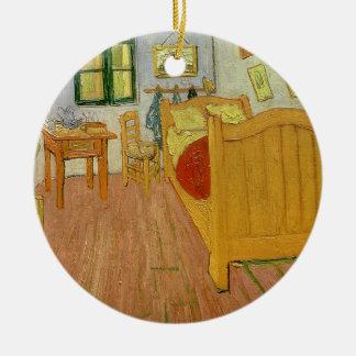 Ornement Rond En Céramique Vincent van Gogh | la chambre à coucher, 1888