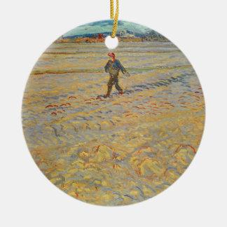 Ornement Rond En Céramique Vincent van Gogh | le semeur, 1888