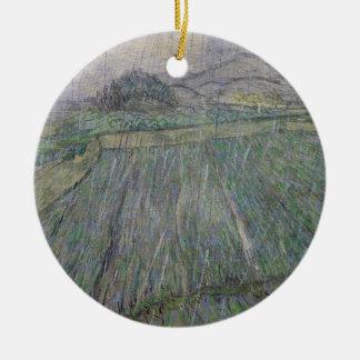 Ornement Rond En Céramique Vincent van Gogh | l'orage