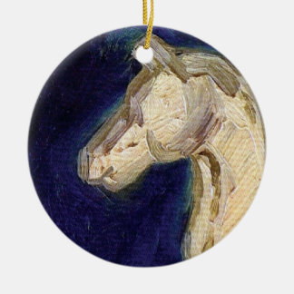 Ornement Rond En Céramique Vincent van Gogh - statuette de plâtre d'un cheval