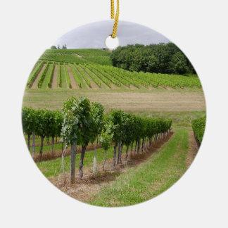 Ornement Rond En Céramique Vineyard - Vignoble (Bordeaux - France) 03