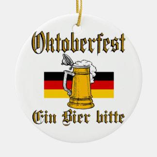 Ornement Rond En Céramique Vitesse d'Oktoberfest