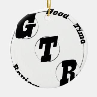 Ornement Rond En Céramique Vitesse GTR