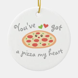 Ornement Rond En Céramique Vous avez une pizza mon humour drôle de nourriture