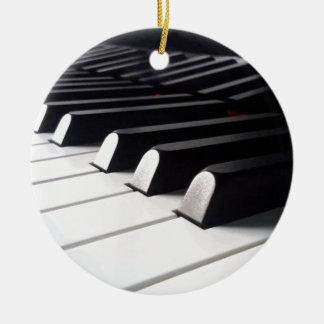 Ornement Rond En Céramique Vue de piano