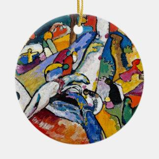 Ornement Rond En Céramique Wassily Kandinsky - art abstrait de la composition
