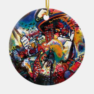 Ornement Rond En Céramique Wassily Kandinsky - art abstrait de paysage urbain