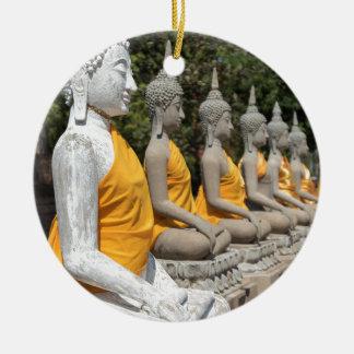 Ornement Rond En Céramique Wat Yai Chai Mongkhon, Ayutthaya
