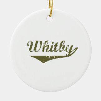 Ornement Rond En Céramique Whitby